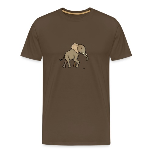 African Elephant - Men's Premium T-Shirt