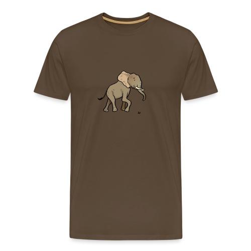 African Elephant - Miesten premium t-paita
