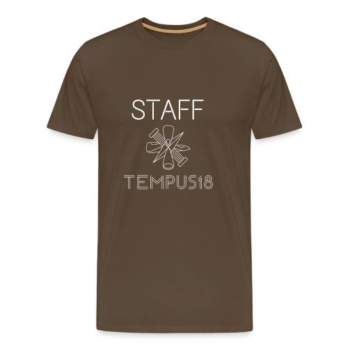 Staff valkoinen - Miesten premium t-paita