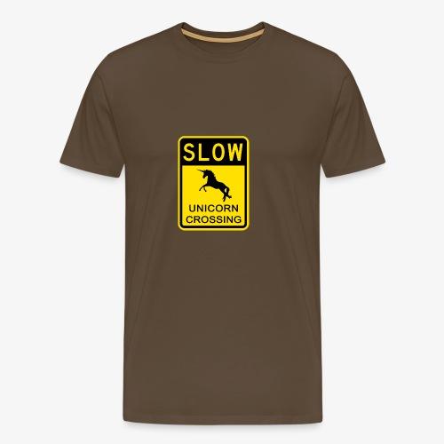 Ralentir ! Passage de licorne - T-shirt Premium Homme