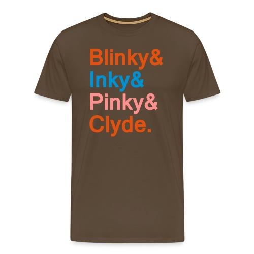 Blinky, Inky, Pinky & Clyde. - Männer Premium T-Shirt