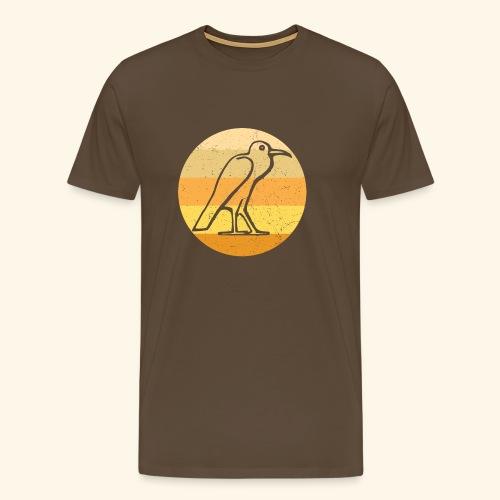 Egyptian Bird Retro - Men's Premium T-Shirt