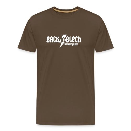 bsg bib typo white - Männer Premium T-Shirt
