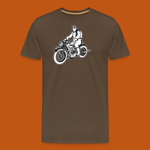 Chopper / Motorrad 04_schwarz weiß - Männer Premium T-Shirt