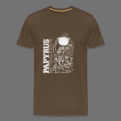 Papyrus Mythologique (valkoinen) - Miesten premium t-paita
