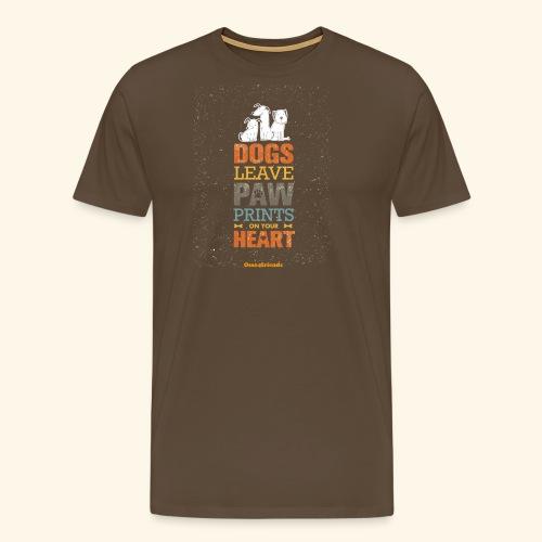 PAWPRINTONHEART - Maglietta Premium da uomo