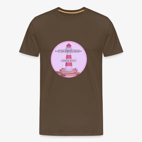 Histaminintoleranz – Land in Sicht - Männer Premium T-Shirt