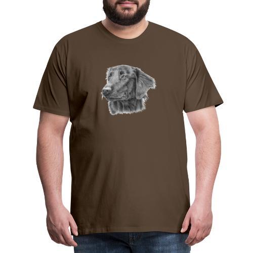flatcoated retriever bw - Herre premium T-shirt