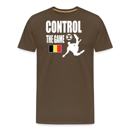 Control The Game Belgium - Mannen Premium T-shirt