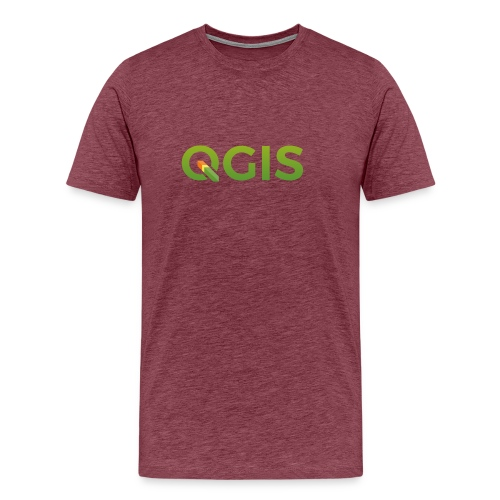 QGIS text transp bg 300dpi - Men's Premium T-Shirt