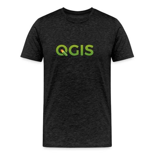 QGIS text logo - Men's Premium T-Shirt