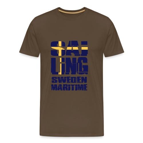 Sweden Maritime Sailing - Men's Premium T-Shirt