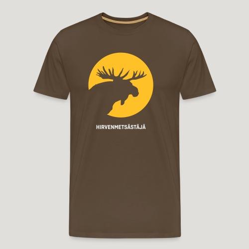 Hirvenmetsästäjä - moose hunter (finnish version) - Männer Premium T-Shirt