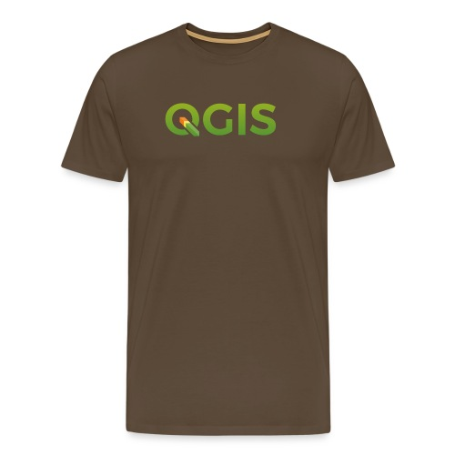 QGIS text transp bg 300dpi - Men's Premium T-Shirt