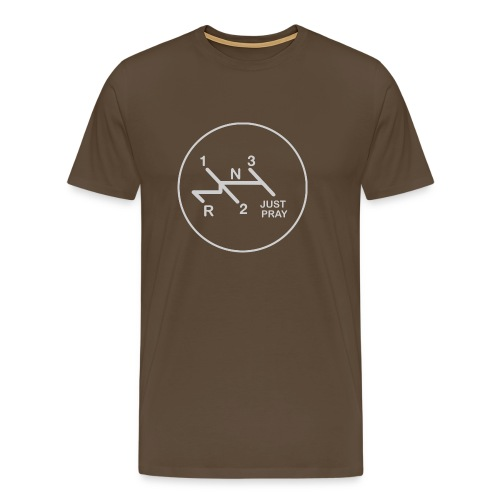 Schaltschema Just Pray 4 Gang luftgekühlt - Männer Premium T-Shirt