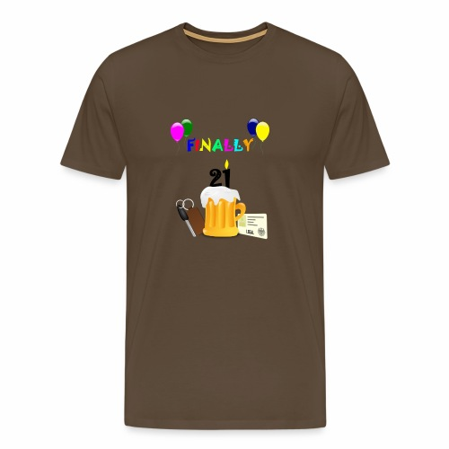 Finally 21 (2) - Men's Premium T-Shirt