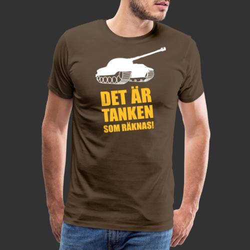 Det är Tanken som räknas - Premium-T-shirt herr
