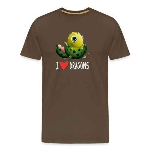 Lustiges Drachen Drache Dragon Hausdrache Geschenk - Männer Premium T-Shirt