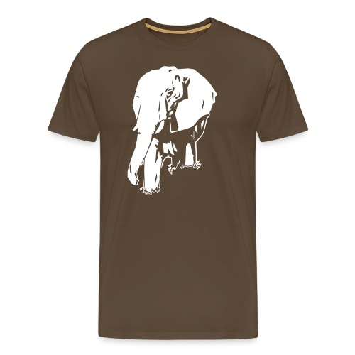 elephant dark ink - Men's Premium T-Shirt
