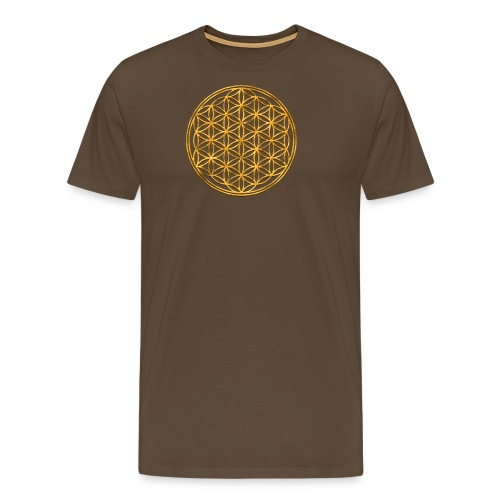 Flower of life GOLD 2 - Mannen Premium T-shirt