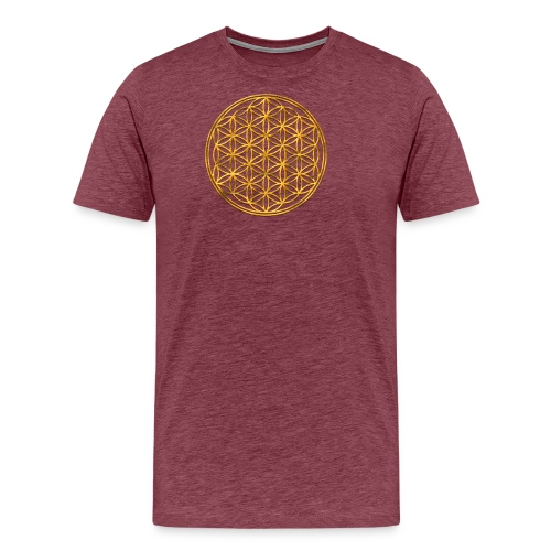 Flower of life GOLD 2 - Mannen Premium T-shirt