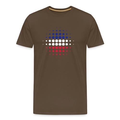 schwarz rot gold raster 01 - Männer Premium T-Shirt