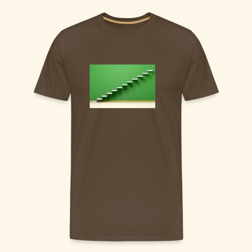 T-Shirts green steps - Mannen Premium T-shirt