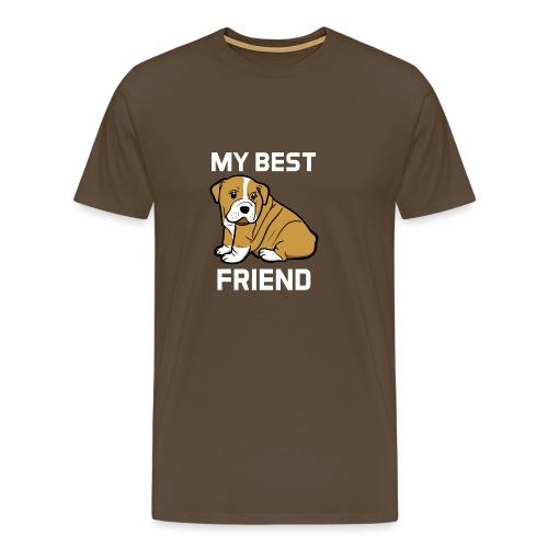 My Best Friend - Hundewelpen Spruch - Männer Premium T-Shirt