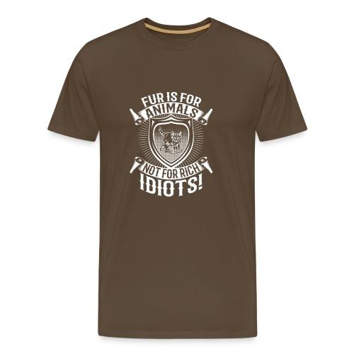 Against fur! - Premium T-skjorte for menn