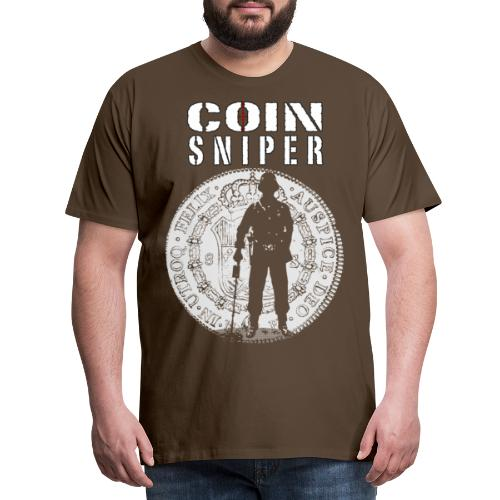 Coin Sniper White Text - Premium T-skjorte for menn