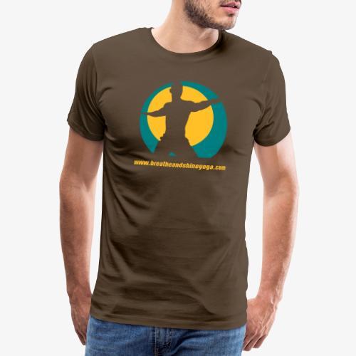 Breathe & Shine Yoga - Men's Premium T-Shirt