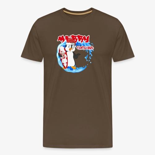 Pinguin Weihnachten - Männer Premium T-Shirt