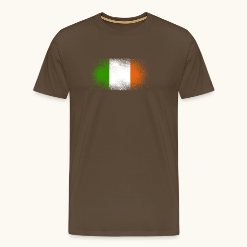 Irland Grunge irische Flagge lustig Geschenk Ire - T-shirt Premium Homme