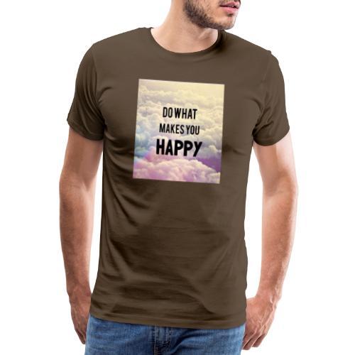Do what makes your soul happy Tshirt - Herre premium T-shirt