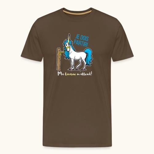Lustiges Einhorn mit Spruch Französisch Geschenk - T-shirt Premium Homme