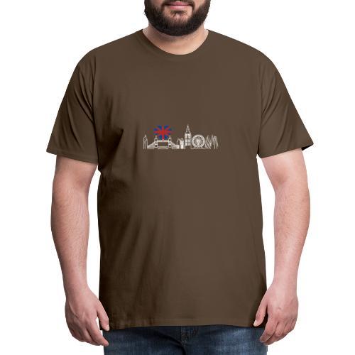 Cooles London Souvenir - Skyline mit Herz London - Männer Premium T-Shirt