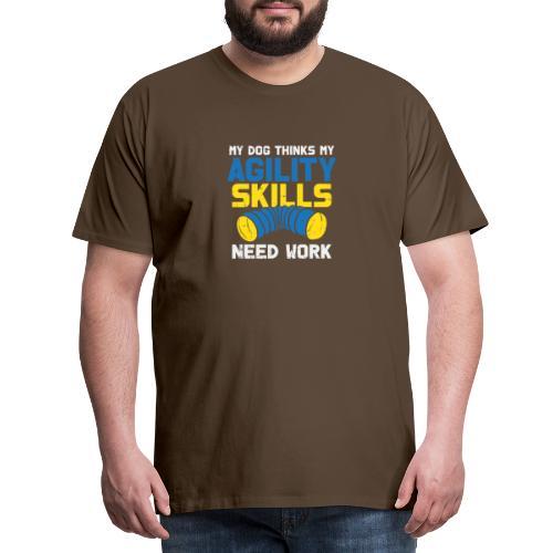 Mein Hund Trainiert Mich - Männer Premium T-Shirt