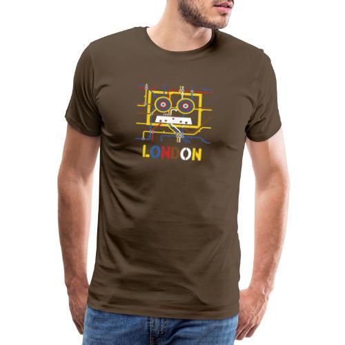 London Tube Map Underground - Männer Premium T-Shirt