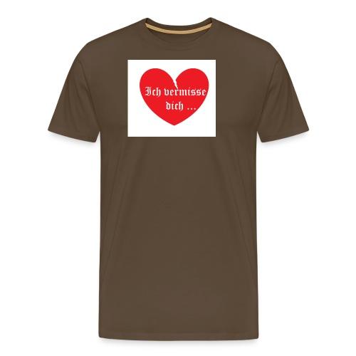 vermisse dich - Männer Premium T-Shirt