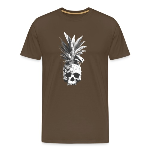 pineapple skull bw - Männer Premium T-Shirt