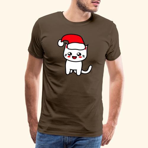 Kawaii Kitteh Christmashat - Männer Premium T-Shirt