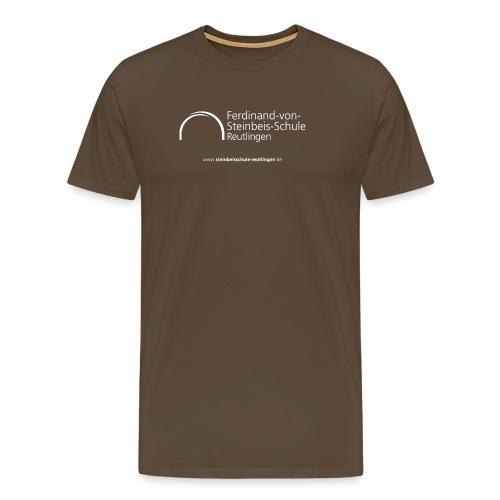 Logo white 300dpi 25cm - Männer Premium T-Shirt