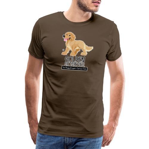 Golden Retriever CartoonClub - Men's Premium T-Shirt
