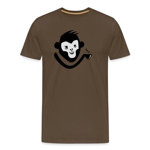 Kaffee-Affe - Männer Premium T-Shirt