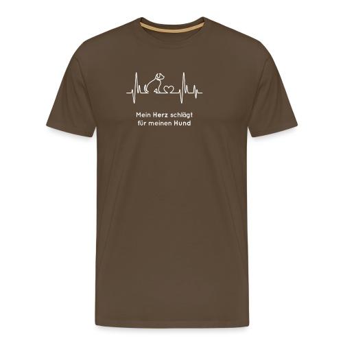 Ein Herz für Hunde - Männer Premium T-Shirt