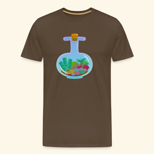 Bottled Succulents - Men's Premium T-Shirt