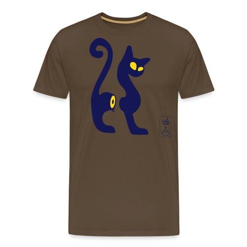 cut-cat 2 couleurs - T-shirt Premium Homme