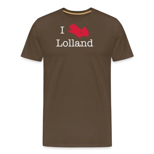 i love lolland cs2 - Herre premium T-shirt
