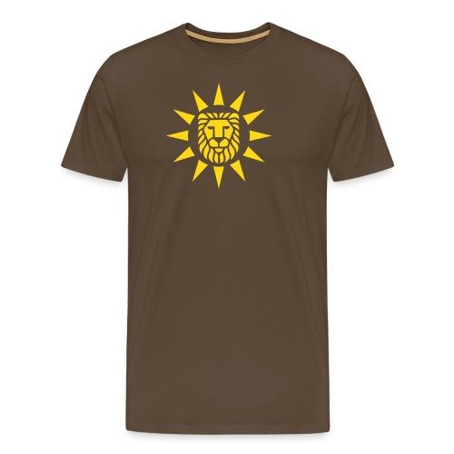 Black Lion with sun - Männer Premium T-Shirt