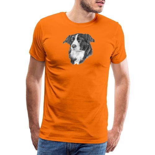 border collie 1 - Herre premium T-shirt